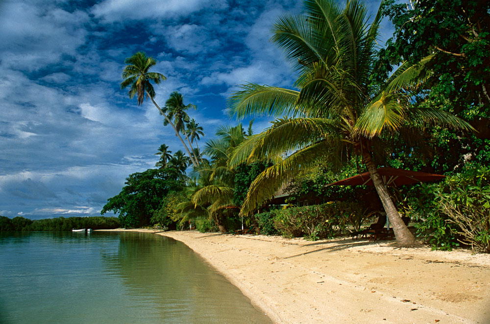 Praia em Nukubati, Ilhas Fiji, Pacífico