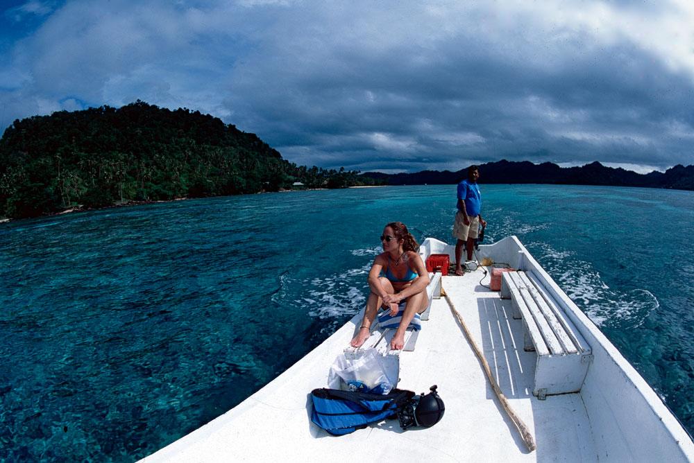 Passeio de barco em Taveuni, Ilhas Fiji, Pacifico