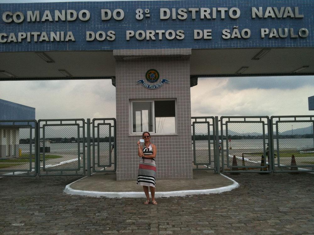Finalização do curso de certificação de capitão amador pela Marinha do Brasil