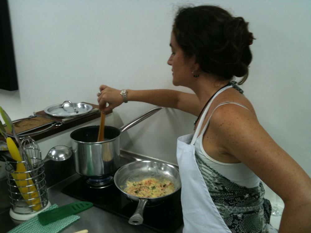 Aula de gastronomia na Academia Gastronômica em São Paulo