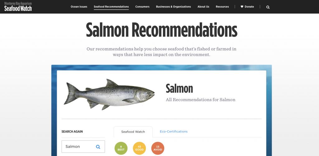 Salmão ao molho de maracujá - Seafood Watch